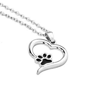🐾  Paw Print Pendant Necklace